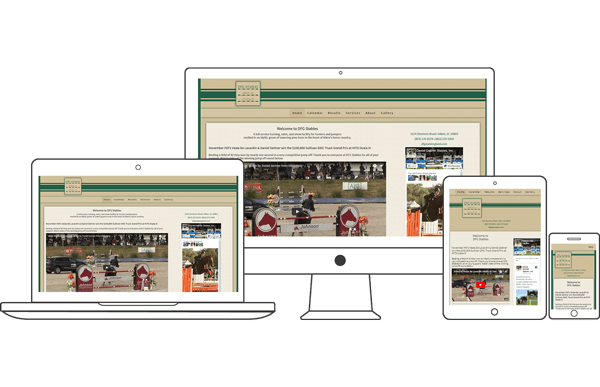 DFG Stables - Equestrian Website Design by 2nd Mouse Media