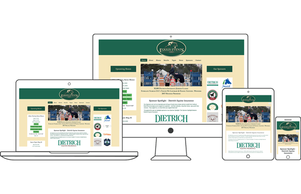 Equus Events - Equestrian Website Design by 2nd Mouse Media