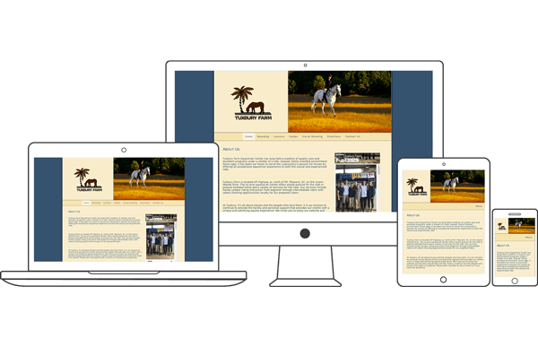 Tuxbury Farm - Equestrian Website Design by 2nd Mouse Media