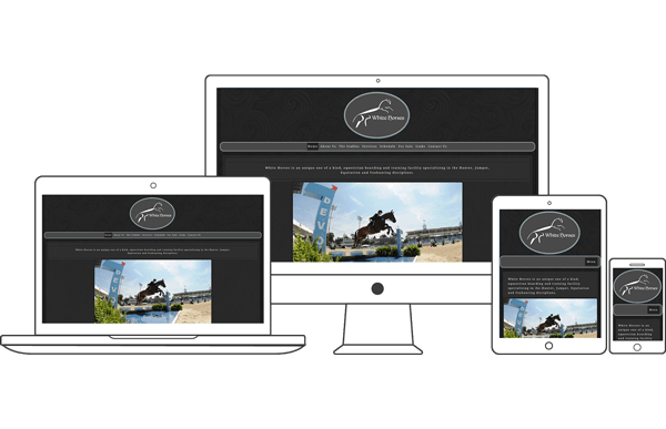 White Horses, LLC - Equestrian Website Design by 2nd Mouse Media